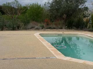 Plage de piscine béton désactivé