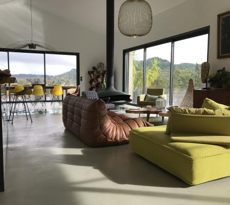 Béton coloré ciré intérieur