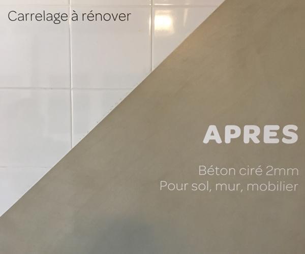 Beton Cire Pour Une Renovation De Salle De Bains Carrelage A Nimes