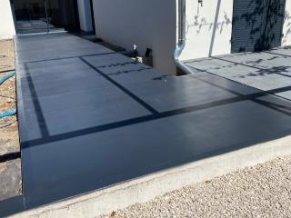 Terrasse béton coloré