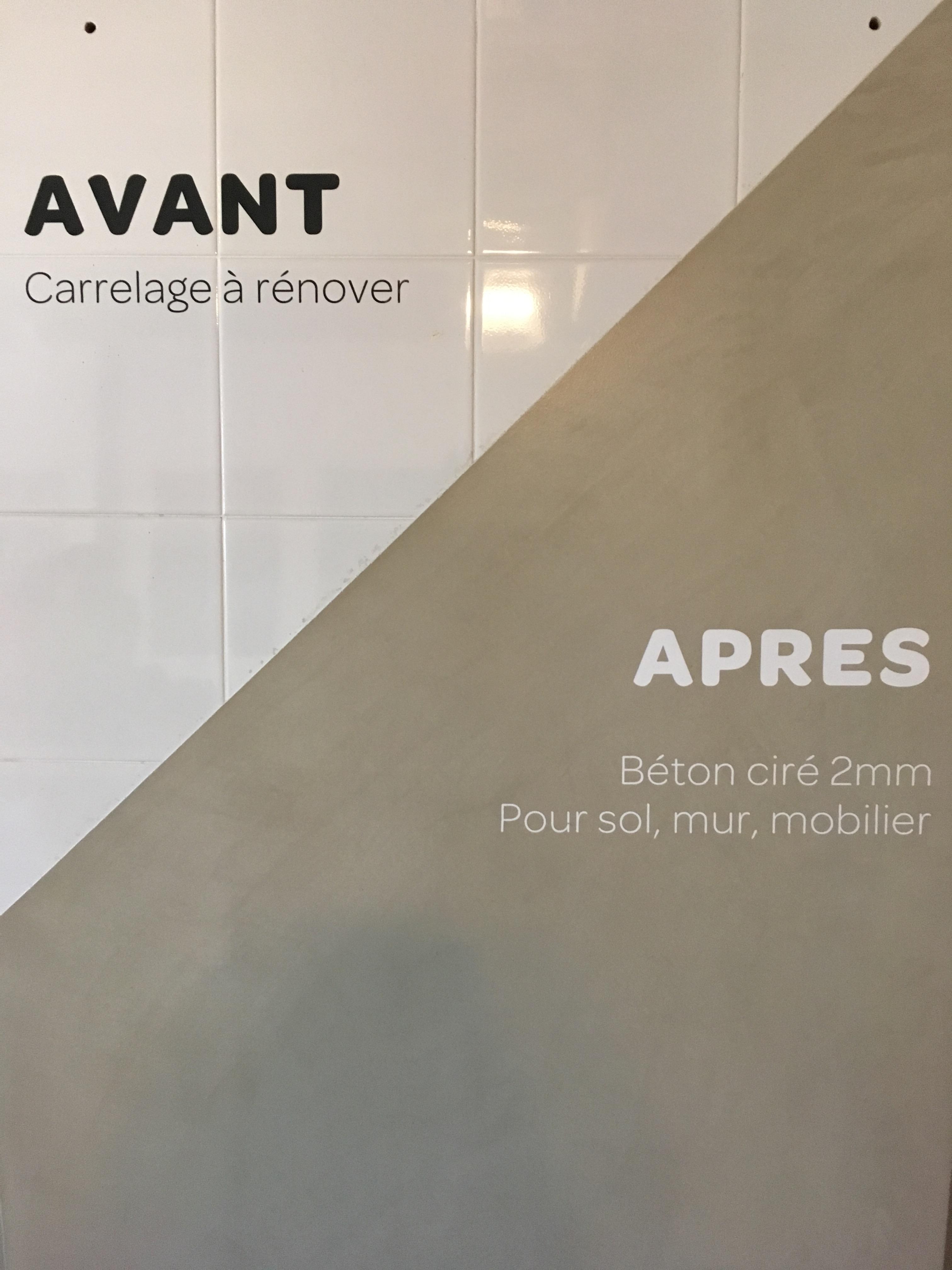 Béton ciré pour une rénovation de salle de bains carrelage à Nîmes